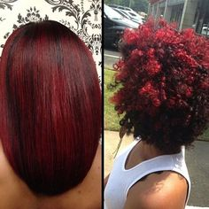 Natural hair versatility by @hairboss_divinedesignsbyashley ❤️ Love the color | #tallahasseehair #haircolor #redhair #redhead #tallahasseestylist #voiceofhair ✂️========================== Go to VoiceOfHair.com ========================= Find hairstyles and hair tips! =========================