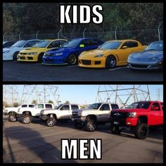 =) I want a Ford or a Chevy.not sure if I want lifted but girls drive trucks too Discount Wheels and Rims Car Jokes, Truck Memes, Car Humor, Ford Truck Quotes, Chevy Jokes, Funny Memes, Funny Cars, Lifted Chevy Trucks, Jeep Truck