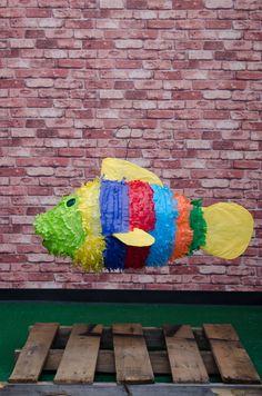 Colorful Fish Piñata. Exclusively at La Piñata Party. El Segundo, CA.