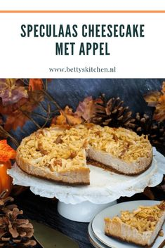 Speculaas Cheesecake met appel (video) | Recept | Betty's Kitchen Appel Video, Cheesecake Brownies, Cheesesteak, Pie, Halloween, Ethnic Recipes, Kitchen, Desserts, Food