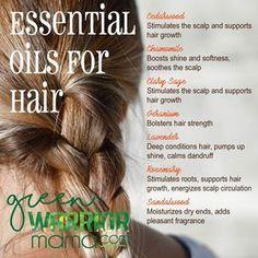 Essential oils for hair.