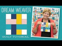 Dream Weaver Quilt Pattern by Missouri Star - Missouri Star Quilt Co. - Missouri Star Quilt Co. - Finished size: x for Strips. From Missouri Star Quilt Company Jenny Doan Tutorials, Msqc Tutorials, Quilting Tutorials, Quilting Projects, Quilting Designs, Quilting Ideas, Quilting 101, Patchwork Quilting, Quilt Design