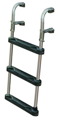 JIF - ESG3 ~ 3-STEP TRANSOM LADDER O/B & I/O [ESG3] - $86.25 : Boat Ladders - Pontoon Boat Ladder - Dock Ladders for Less, Boat-Ladders-Store.com