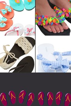 Add some fun to your feet with 10 amazing DIY Flip Flop Ideas! Easy, affordable, and perfect for the summertime! Some Fun, Fashion Outfits, Fashion Tips, Summertime, Flip Flops, Sandals, Hair Styles, Amazing, Diy
