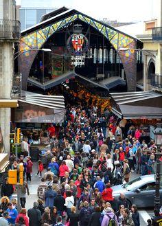 La Boqueria, Barcelona -- food market and restaurants