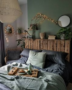 home bedroom modern \ home bedroom . home bedroom master . home bedroom cozy . home bedroom small . home bedroom modern . home bedroom ideas . home bedroom romantic . home bedroom indian Warm Home Decor, Home Decor Bedroom, Green Bedroom Decor, Bedroom Furniture, Sage Green Bedroom, Bedroom Yellow, Bedroom Brown, Green Bedding, Bohemian Bedroom Decor