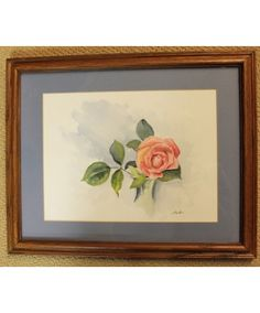 """""""The Rose"""" by Sister Jane Becker is an original watercolor"""