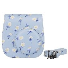 US $9.49 Fujifilm Instax Mini 8+ Camera bag, Classic Vintage PU Leather Instax Camera Compact Case Blue Flower. Aliexpress product