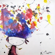 Natalie Sharpe, Happy Head, 2012  $85 - 25 cm x 25 cm