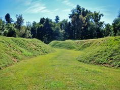 Confederate trenches  at Columbus-Belmont State Park in Kentucky