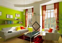 Pareti Salotto Verde : 27 fantastiche immagini su il colore verde nellarredamento colors