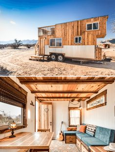 "Peacock tiny house on wheels Small house of peacock on wheels ""Le Petit Prince"" – small home on wheels from TinThe tiny house on wheels of ""Escher""Peacock through old hippie woodworking Home Design, Small House Design, Design Ideas, Interior Design, Tiny House Bedroom, Tiny House Living, Tiny House Movement, Small Houses On Wheels, Timbercraft Tiny Homes"