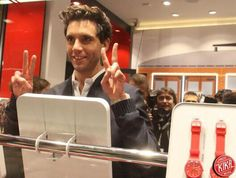 Mika for Swatch in Milan, November 2014