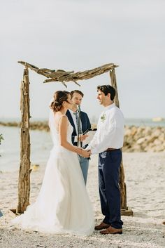 Meg and Ralph knew right away that they wanted their wedding to be near- and inspired by- the ocean. A color palette filled with varying shades of blue set the tone beautifully for their organic, coastal inspired day. Beach Wedding Aisles, Wedding Ceremony Decorations, Beach Weddings, Coastal Wedding Inspiration, Walt Disney Quotes, Father Daughter Dance, Ceremony Arch, Clearwater Beach, Dance The Night Away