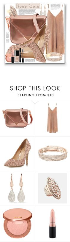 """Rose Gold"" by marionmeyer ❤ liked on Polyvore featuring Alexander Wang, Sans Souci, Head Over Heels by Dune, Anne Klein, Monica Vinader, Avenue, tarte, MAC Cosmetics, Christian Dior and rosegold"