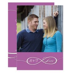 Infinity Symbol Sign Infinite Love Weddings Scroll Card