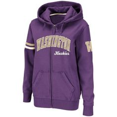 Washington Huskies Ladies Valley Full Zip Hoodie - Purple