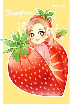 Throw it in the air! - A strawberry Jeonghan!