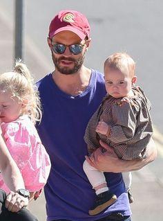 Jamie Dornan with daughters Dulcie and Phoebe