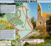 This is a pleasant ramble in East Mendip, ideal for the winter months, from the hamlet of Witham Friary through rural Somerset passing near what was once a great Carthusian priory and its fish ponds...