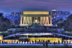 Lincoln Memorial and Reflecting Pool HDR by Brandon Kopp, via Flickr