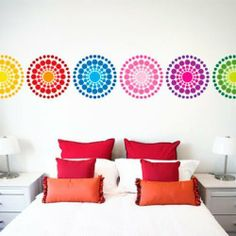 Circle Burst Set by Wall Sticker Shop Signature. $39.99. Designed by Scribble on Everything6, 13 inch decalsStick them on walls, ceilings, mirrors, doors, laptops, furniture! Wall graphics are a great modern alternative to paint, wallpaper and posters.