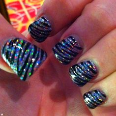 Zebra print with glitter base