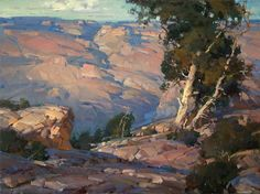 "Xiangyuan Jie 'Late Afternoon at South Rim, Grand Canyon"" 18 x 24"