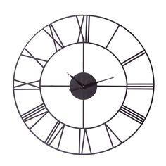 Zwarte metalen industri�le SIRIUS klok D 107 cm
