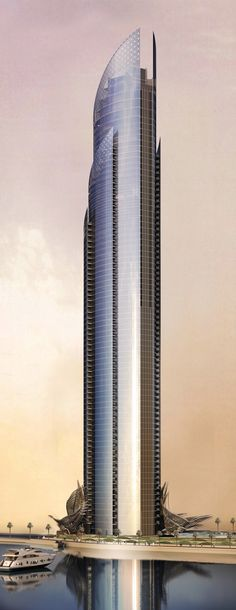 Tower & Canopy, Dubai, UAE by Innovarchi Architects :: 80 floors, height :: under construction Futuristic Architecture, Contemporary Architecture, Amazing Architecture, Art And Architecture, Contemporary Building, Commercial Architecture, Future Buildings, Unique Buildings, Amazing Buildings