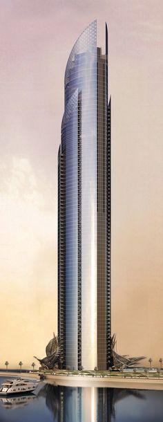D1 innovarchi, Futuristic Skyscraper, Tower, Future Building. Más sobre ciudades y futuro sostenible en www.solerplanet.com