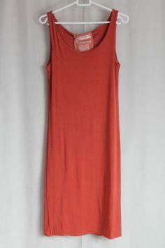 cocon.commerz PRIVATSACHEN PLAN Kleid aus Bambusjersey in orangerot Größe 2