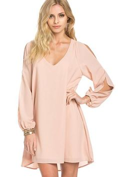 Around the Globe Blush Shift Dress - Find the perfect outfit for any occasion at…