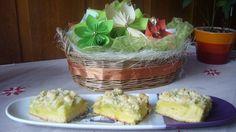 Fotorecept: Tvarohovo rebarborový koláč Ale, Cabbage, Tacos, Mexican, Pudding, Vegetables, Ethnic Recipes, Food, Basket