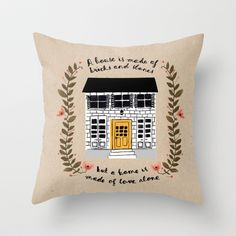 Home+Throw+Pillow+by+Phillippa+Lola+-+$20.00