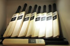 Specially designed autograph bats for the event at Rose - The Watch Bar