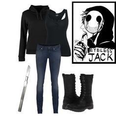 """Creepypasta eyeless jack!!"" by stephihunt on Polyvore"