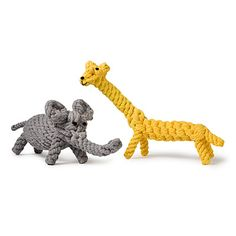 JERRY GIRAFFE AND COCO ELEPHANT CHEW TOYS | Dog Bone, Pet Accessories, Teething Accessories | UncommonGoods