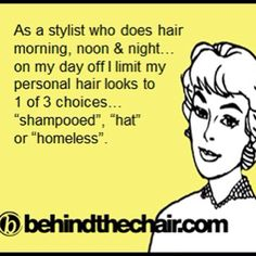 Carmen is never truly off, and unlike this quote, neither is her hair!