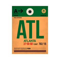 ATL Atlanta Luggage Tag