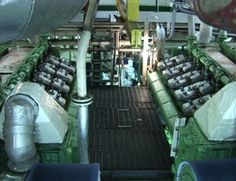 Engine room of Regal Empress - CLICK ON THE PICTURE TO WATCH THE VIDEO Marine Engineering, Watch Video, Video Clip, Ship, Room, Bedroom, Ships, Rooms, Videos