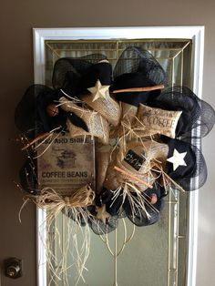 Country/Primitive Rise & Shine Coffee Beans by CountryDecoMesh, $59.00