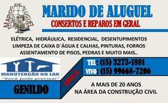 JORNAL AÇÃO POLICIAL ITAPETININGA E REGIÃO ONLINE: GENILDO MARIDO DE ALUGUEL Em Itapetininga - SP A mais de 20 anos na área da construção civil tel: (15) 3273-1881 / 99668-7206
