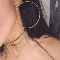 Olivia Hoop Earrings - Authentic Jennifer Zeuner Earrings