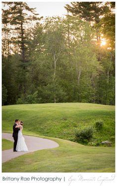 Brookstone Park Event Center Wedding Derry NH - Wedding Couple on golf course