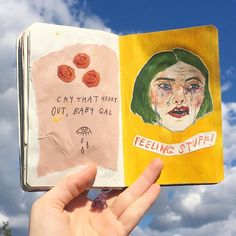 Find images and videos about art, quotes and yellow on We Heart It - the app to get lost in what you love. Zine, Art Hoe Aesthetic, Arte Sketchbook, Creative Journal, Visual Diary, Sketchbook Inspiration, Art Inspo, Collages, Cool Art