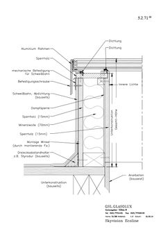 SkyVision Ecoline Construction Drawings, Roof Light, Skylight, Architecture Details, Montage, Aluminium, Tiny House, Scale, Floor Plans
