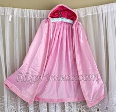 Satin Hooded Cape Dress-Up Cloak Custom Princess  2-8T