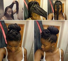 13 Box Braid Updo Styles You Can Try After Your Next Install [Gallery]