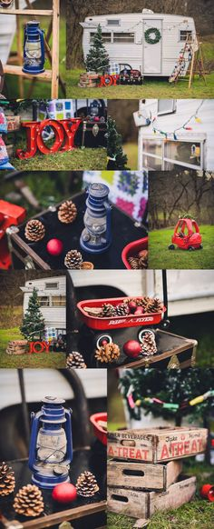 Unique Christmas mini sessions. Vintage camper mini sessions. Shasta vintage camper. Mini sessions. Traveling photographer. www.lindseywillisphotography.com